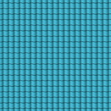 Blue roof tiles background texture in regular rows.Seamless pattern. Vector illustration. Stock Photography
