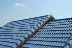 Blue roof. Tiles compact Asia stock photography