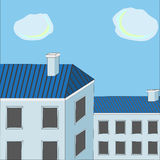 Blue roofs Royalty Free Stock Image
