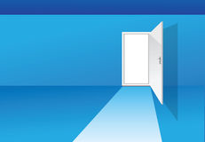 Blue room with door Stock Photography