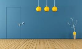 Blue room with door Stock Images