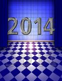 Blue 2014 room Royalty Free Stock Images
