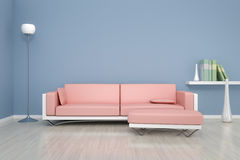 Blue room with a sofa Stock Photography