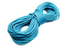 Blue rope. Isolated on white Royalty Free Stock Images