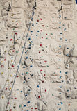 Blue Rope Angled Across Climbing Wall Stock Photos