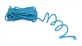 The blue rope in the coil Royalty Free Stock Photography