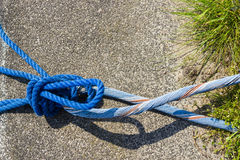 Blue Rope And Knot Stock Photo
