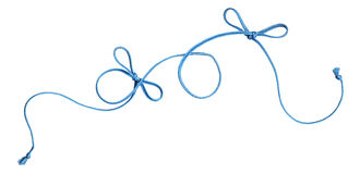 Blue rope swirl with bows Royalty Free Stock Photography