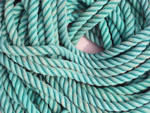 Blue rope texture Stock Image