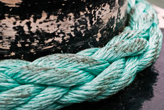 Blue rope V2 Royalty Free Stock Photo