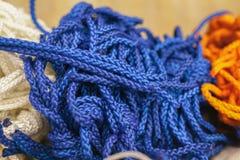 Blue rope Stock Photo