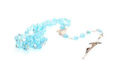 Blue Rosary stock image