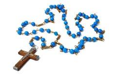 Blue rosary Royalty Free Stock Photo