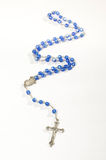 Blue rosary isolated vertical photo Stock Photography