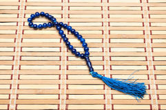 Blue rosary Stock Images