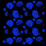 Blue rose buds on a black background Royalty Free Stock Photos