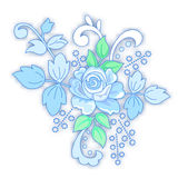 Blue rose decorated small bouquet Stock Photography