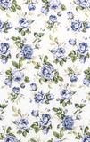 Blue Rose Fabric background, Fragment of colorful retro tapestry text Stock Photography