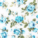 Blue Rose Fabric background, Fragment of colorful retro tapestry Stock Image