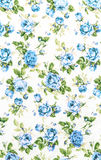 Blue Rose Fabric background, Fragment of colorful retro tapestry Royalty Free Stock Photography