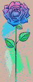 Blue Rose, freehand drawing Royalty Free Stock Photo