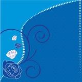 Blue Rose Illustration Stock Photos