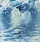 Blue rose reflected in the water Stock Image
