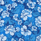 Blue Rose seamless pattern. Retro floral texture. Vintage Flora Royalty Free Stock Photos