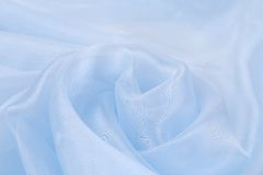 Blue rose silk. On a white beckground Stock Image