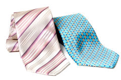 Blue and rose ties Stock Photos