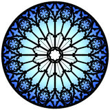 Blue rose window Stock Photos