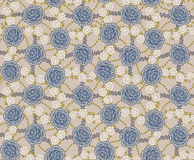 Blue roses pattern Royalty Free Stock Image