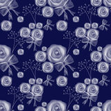 Blue roses seamless pattern background Royalty Free Stock Photos