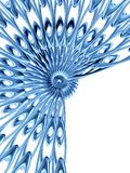 Blue rosette 2 royalty free stock photography