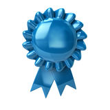 Blue rosette Royalty Free Stock Photography