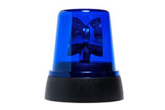 Blue rotating beacon Royalty Free Stock Photos