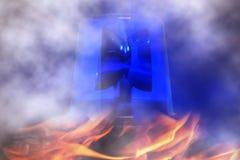 Blue rotating beacon Royalty Free Stock Photography