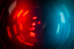 BLUE rotating red light Stock Photography