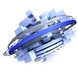 Blue rotation vector illustration