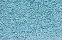 Blue rough plaster on wall Royalty Free Stock Photo
