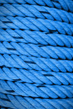 Blue rough rope abstrack background. Royalty Free Stock Photography