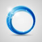 Blue round Stock Image