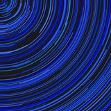 Blue round abstract background from concentric curved stripes. Blue round abstract background - vector design from concentric curved stripes royalty free illustration