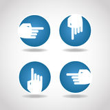Blue round arrow hand Royalty Free Stock Photos