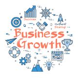 Blue round Business Growth concept Royalty Free Stock Photography
