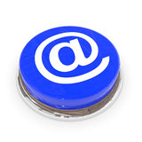 Blue round button with E-MAIL sign. Royalty Free Stock Photo