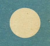 Blue round cardboard frame Stock Images