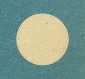Blue round cardboard frame Stock Photo