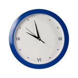 Blue round the clock on a white background Royalty Free Stock Photography