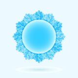 Blue Round Frame Royalty Free Stock Photo